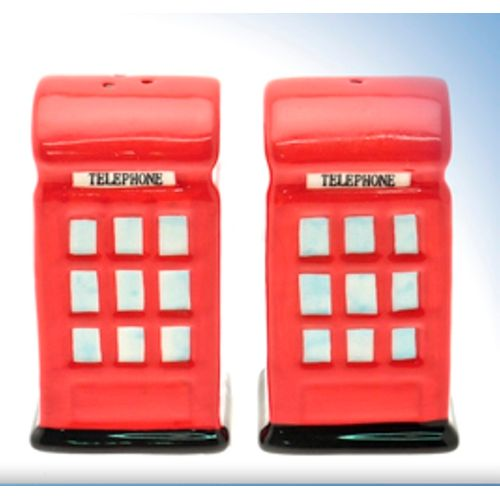 British Red Telephone Box Salt & Peppers Pots Ref LP17177