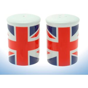 UK Union Jack Flag Salt & Pepper Shaker Set