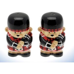 Scottish Bag Piper Bear Salt & Pepper Set