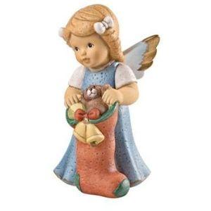 Nina & Marco, Angel with Stocking Figurine