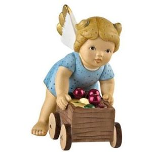 Goebel Nina & Marco Angel Figurine - A Wagon full of Ornaments