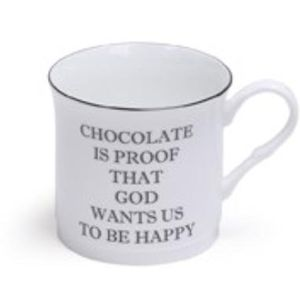 Heath McCabe Fine China Text Mug - Chocolate is Proof