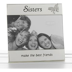 "Message Photo Frame 6x4"" - Sisters"