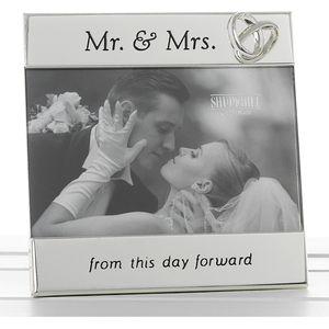 "Mr & Mrs Message Photo Frame 6x4"""