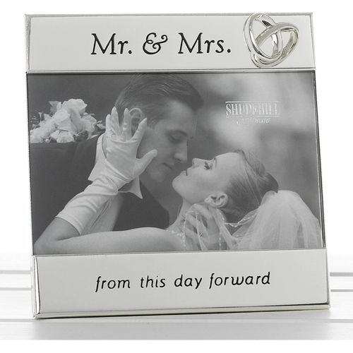 """Message Photo Frame 6"""" x 4"""" - Mr & Mrs Feom this day forward"""