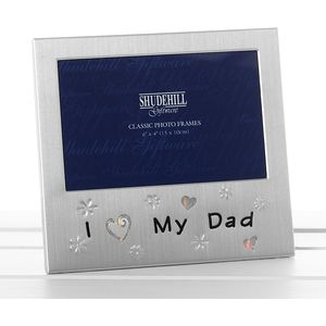 I Love My Dad Message Photo Frame 6x4""