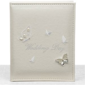 "Butterfly Wedding Photo Album Holds 24 5"" x 7"" Prints"