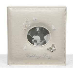 "Butterfly Wedding Photo Album Holds 80 5"" x 7"" Prints"