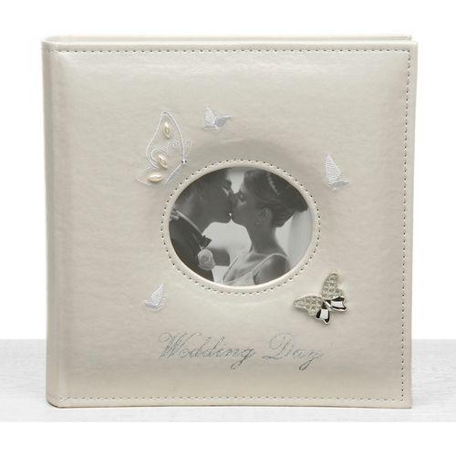 "Butterfly Wedding Photo Album Holds 80 5"" x 7"" Prints"