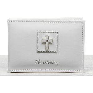 "Diamond Cross Christening Photo Album 6x4"""