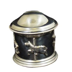 Edwin Blyde English Pewter Carousel Money Box