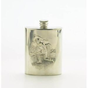Edwin Blyde English Pewter Hipflask - Lawn Bowls