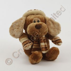 Cute Puppy Dog Soft Toy stripy light ears