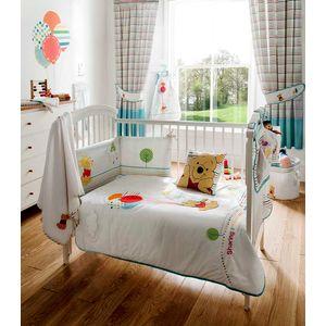 Disney Poohs Sunny Day Babies Cot Bed Quilt 100cm x 120cm