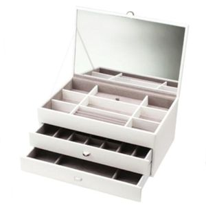 Boutique - Large White 2 Drawer Jewellery Box