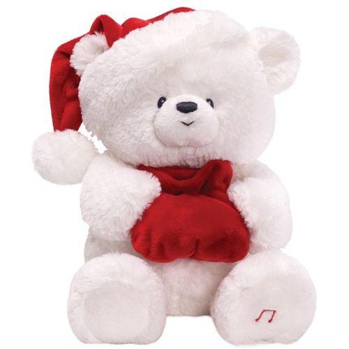 GUND Christmas Nighty Night Jingle Bells Bear Soft Toy Ref 4029387