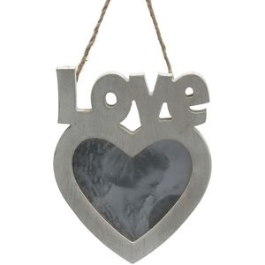 LOVE Wooden Heart Hanging Photo Frame