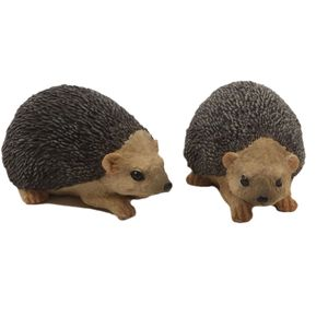 Hedgehog Garden Ornaments - Set of 2