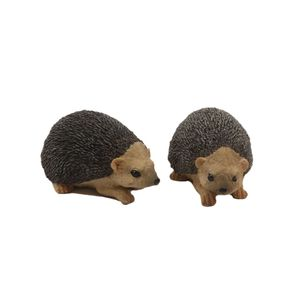 Set of 2 Hedgehog Garden Ornaments