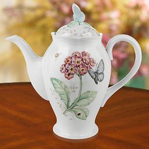 Lenox Butterfly Meadow Coffee Pot With Lid