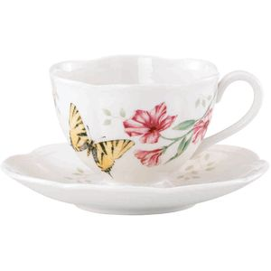 Lenox Butterfly Meadow Tiger Swallowtail Cup & Saucer