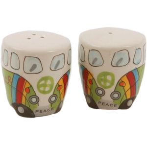 Camper Van Salt & Pepper Pot Set - Green