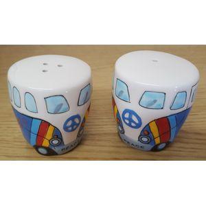 Camper Van Salt & pepper Pots (Blue)
