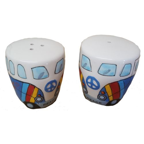Camper Van Salt & Pepper Pot Set - Blue