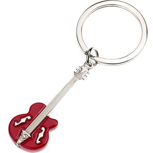 Red Guitar Keyring