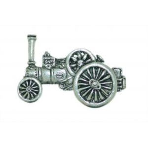 English Pewter Traction Engine Tie Pin / Lapel Badge