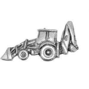 English Pewter Excavator Tie Pin / Lapel Badge