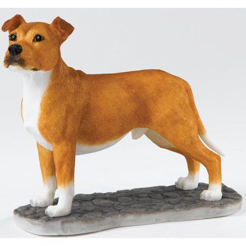Border Fine Arts - Tan & White Staffordshire Bull Terrier  Standing  A25048