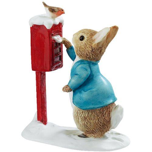 Beatrix Potter Peter Rabbit Posting  Letter Winter Figurine A3486
