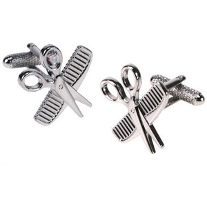 Scissors & Comb Cufflinks