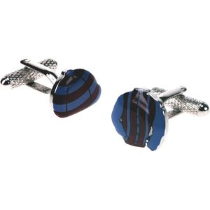 Jockey Cap & Shirt Cufflinks - Striped Pattern