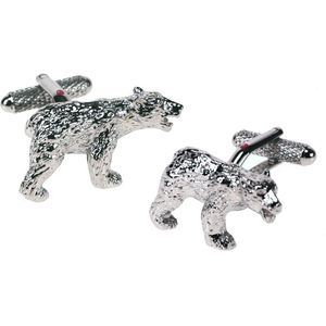 Polar Bear Cufflinks - Silver Finish