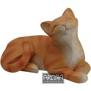 My Pedigree Pals Ginger Tabby Cat (Lying) Figurine