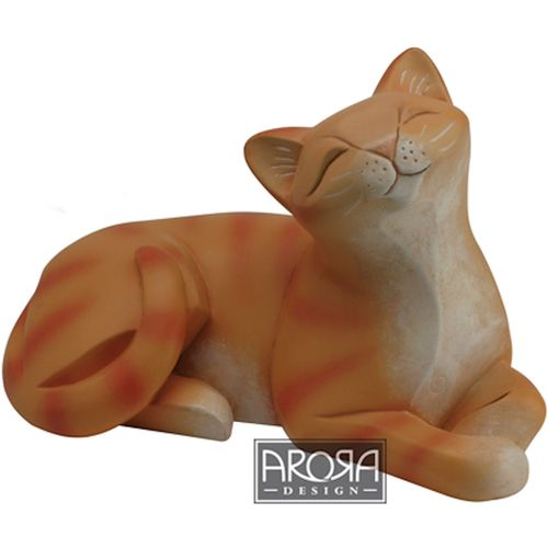 Arora Design Ginger Cat Lying Down Figurine
