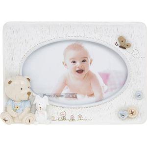 "Baby Bear Oval Photo Frame 6"" x 4"" - Boy"
