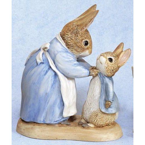 Beatrix Potter Mrs Rabbit & Peter Figurine 271780