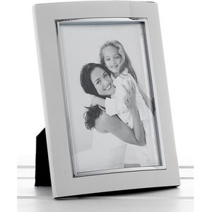 "White & Silver Photo Frame 6"" x 8"""