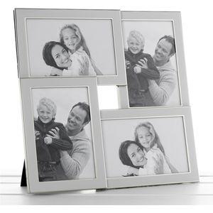 White & Silver Multi Photo Frame - 4 photos