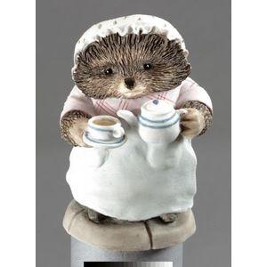 Mrs Tiggy-Winkle Pouring Tea Figurine