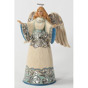 Heartwood Creek Blue and Silver Angel Figurine