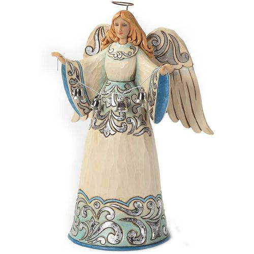 Heartwood Creek Blue and Silver Angel Figurine 4027851