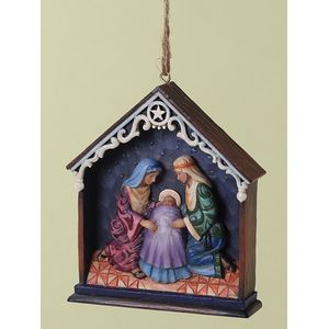 Heartwood Creek Hanging Ornament Holy Family in Stable