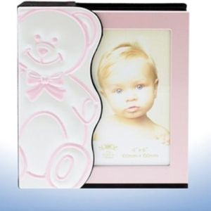 Baby Photo Album - Pink Teddy Design