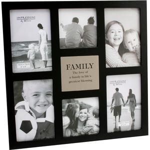 """Family"" Multi Aperture Photo Frame - Holds 6 Photos"