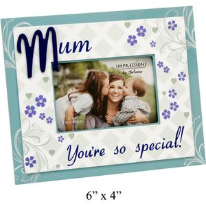 """Sentiment Photo Frame 6"""" x 4"""" - Mum Youre So Special"""