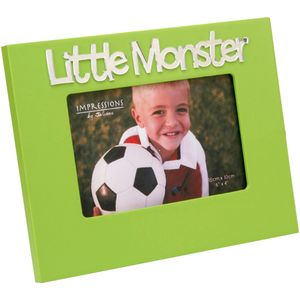 "Green Photo Frame With 3D Letters 6"" x 4"" - Little Monster"